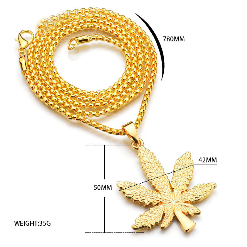 UNB-2017-New-Gold-Silver-Plated-Cannabiss-Small-Weed-Herb-Charm-Necklace-Maple-Leaf-Pendant-Necklace (2).jpg