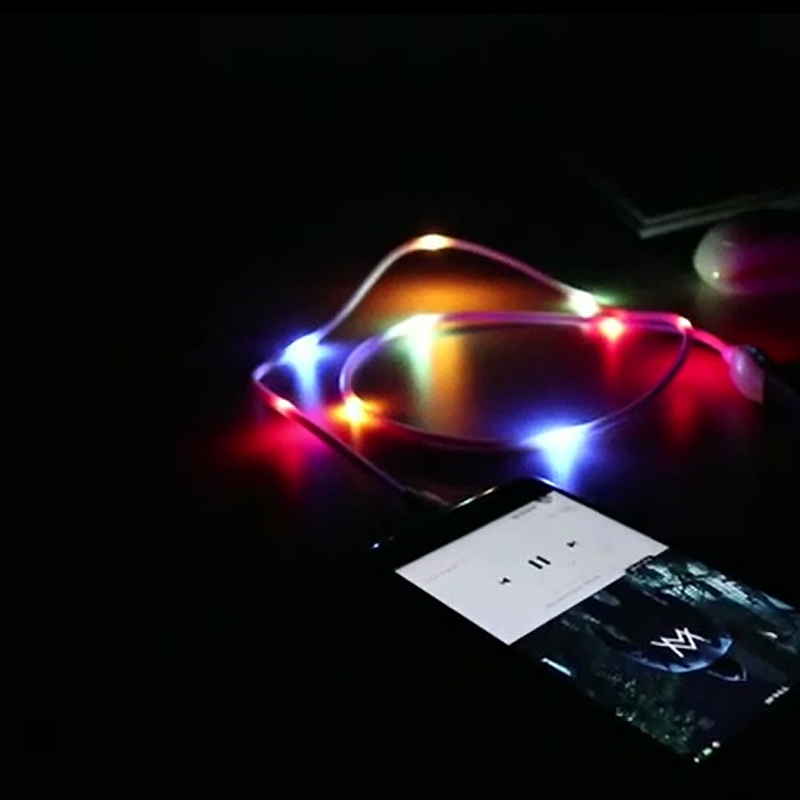 Electronics - New Fancy Glowing with Music Beat Charging Cable for Android/Type-C