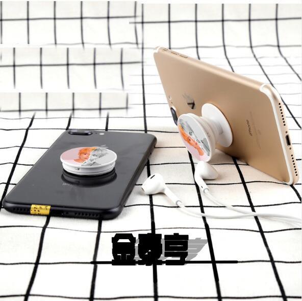 Indoors - BTS Round Airbag Mobile Phone Bracket Universal Lazy Car Telescopic Bracket Expanding Bracket Phone Mount Ring Holder
