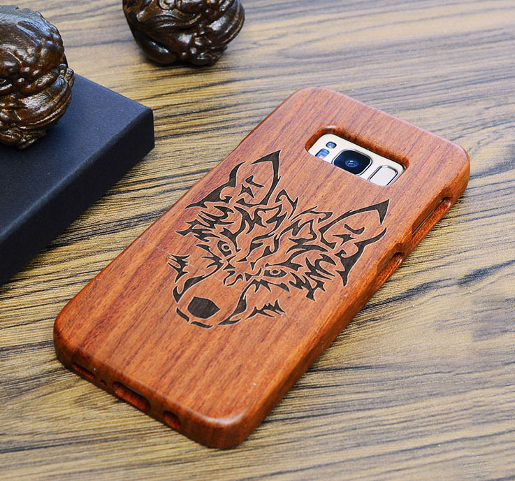 Wood - Real Genuine Rosewood Case For Samsung Galaxy s7 g930 s7 edge g935 By Wooden Laser Carving Phone Cover Wood