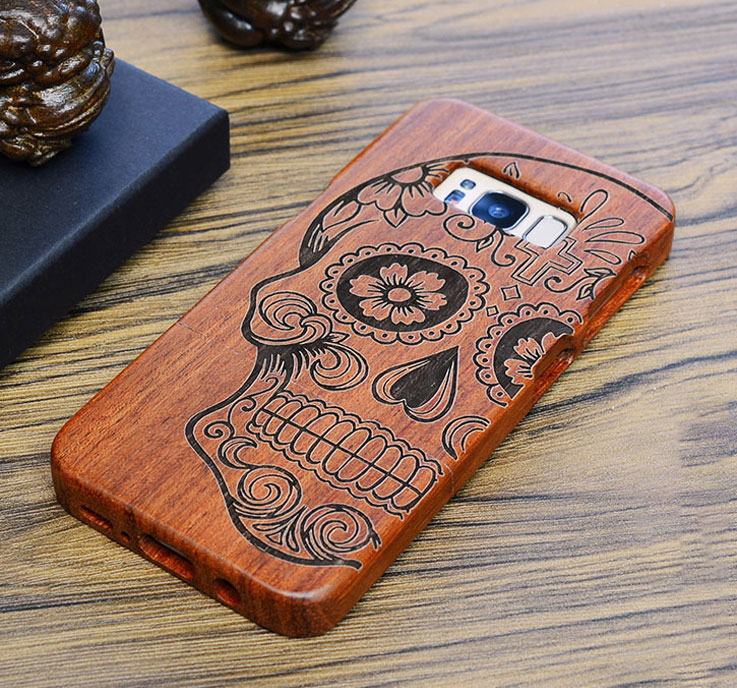 Rug - Real Genuine Rosewood Case For Samsung Galaxy s7 g930 s7 edge g935 By Wooden Laser Carving Phone Cover Wood