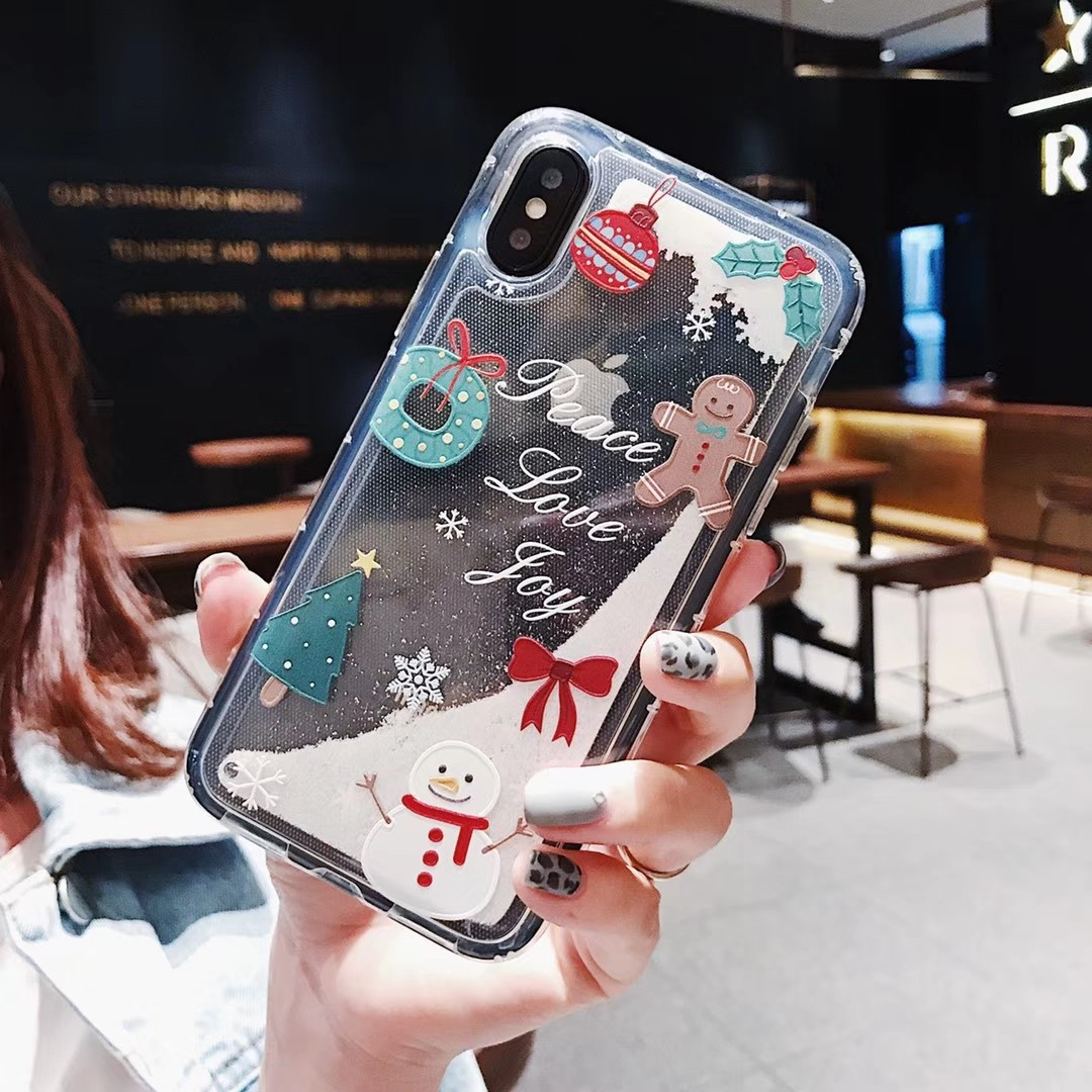 Electronics - Christmas Fashion Liquid Glitter Sand Mobile Phone Cases For iphone 6 6s 5 S SE 7 8 Plus X XR XS Max